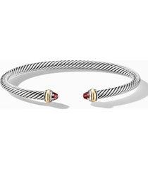 david yurman 4mm cable classic bracelet with 18k gold & semiprecious stones, size medium in garnet at nordstrom