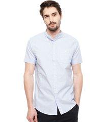 camisa brave soul celeste - calce regular