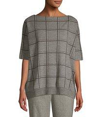 oversize wool jacquard sweater
