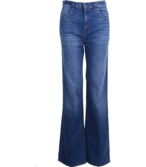 j brand jeans joan high rise wide leg striker blauw
