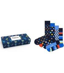 happy socks men's navy gift box socks, pack of 4
