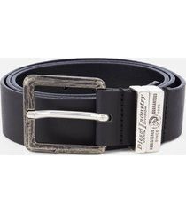 diesel men's guarantee leather belt - black - w38/95cm - black