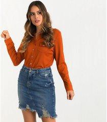 blusas naranja derek 820958