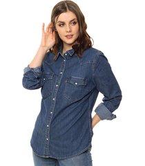 camisa levis tailored western vintage med