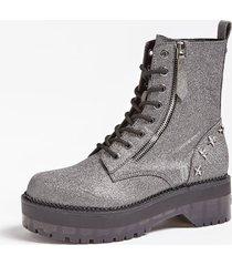 błyszczące buty w stylu militarnym model tanner