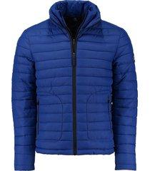 jas double zip kobaltblauw