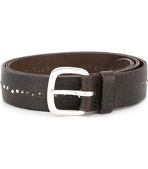 orciani micro-studded belt - brown