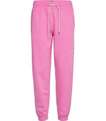 gap logo heavyweight easy joggers sweatpants mjukisbyxor rosa gap
