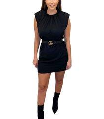 ax paris women's shoulder padded shift dress