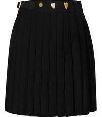 charles jeffrey loverboy pleated wool skirt - black