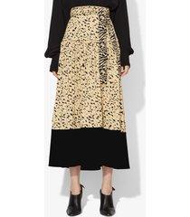 proenza schouler inky leopard midi skirt black/sage inky leopard/green 10