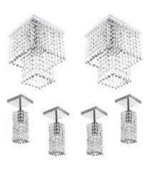 kit 4 lustre clearcrillic quad. + 2 marrycrilic cristal acr