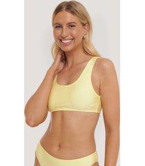 na-kd swimwear bikiniöverdel - yellow