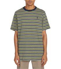 volcom men's fleeter striped short sleeve knit shirt