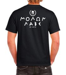 come and take it, molon labe est 480 b.c t-shirt by the apparel armory