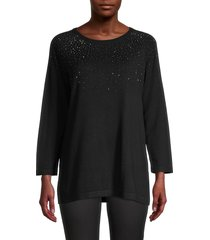 karl lagerfeld paris women's sequin tunic - admiral red - size l