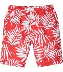 bermuda da spiaggia fantasia (rosso) - bpc bonprix collection