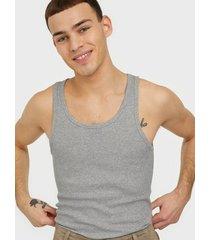 bread & boxers ribbed tank top t-shirts & linnen grey melange