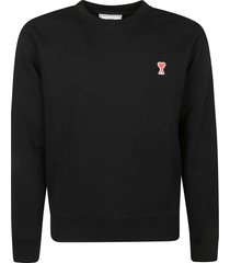 ami alexandre mattiussi heart embroidery sweatshirt
