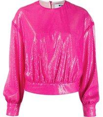 msgm sequin sweatshirt - pink