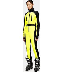 *neon yellow fitted ski snow suit by topshop sno - fluro yellow