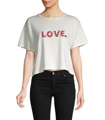 graphic cotton cropped top