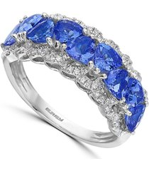 effy tanzanite (2 ct. t.w.) & diamond (1/4 ct. t.w.) ring in 14k white gold