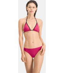 puma swim klassiek bikinibroekje voor dames, roze, maat l