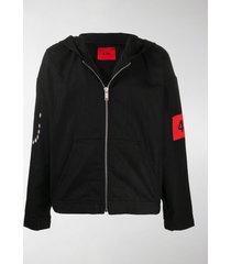 424 armband hooded jacket