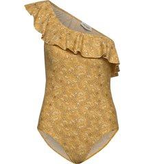 swim suit baddräkt badkläder gul sofie schnoor