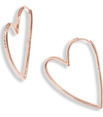 women's kendra scott ansley heart hoop earrings