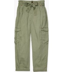 tommy hilfiger women's essential belted cargo pant olive - 0