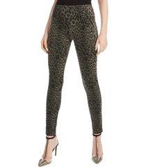 i.n.c. animal-print curvy-fit skinny pants, created for macy's