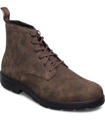 bl lace up leather boot snörade stövlar brun blundst