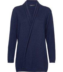 ladies knit cardigan, villis gebreide trui cardigan blauw nanso