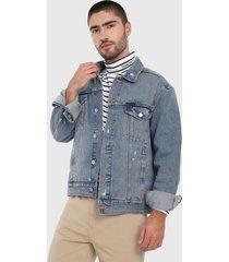 chaqueta azul calvin klein