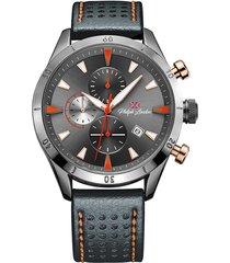 relógio cronógrafo philiph london masculino - pl80140612m cz grafite