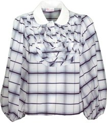 check popeline cotton shirt