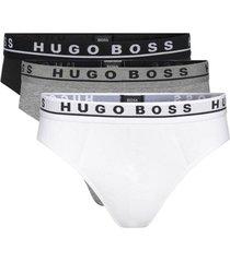 hugo boss 3-pack brief / slip cotton stretch wit, zwart, grijs, extra large