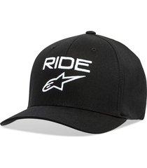 gorro ride 2.0 negro/blanco alpinestars