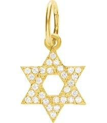ciondolo in oro giallo forma stella di david per donna