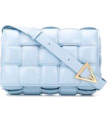 bottega veneta padded cassette crossbody bag - blue