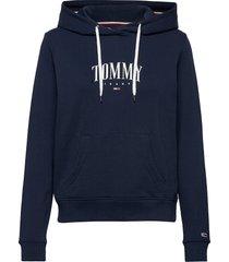 tjw essential logo hoodie hoodie blå tommy jeans