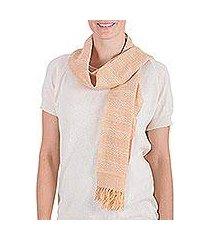 cotton scarf, 'summer sunset' (el salvador)