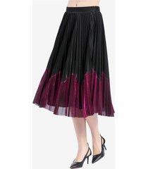 falda plisada metalizada negro nicopoly