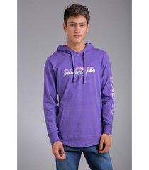 buzo violeta rever pass hoodie aloha