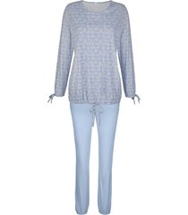 pyjama simone lichtblauw/ecru/crème