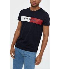 tommy hilfiger block stripe hilfiger tee t-shirts & linnen desert