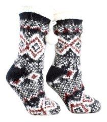minxny women's snow falls shea butter infused lounge aroma sole socks, 2 piece