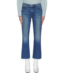 'colette' raw hem cropped flared jeans